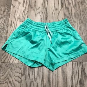 Green lululemon shorts